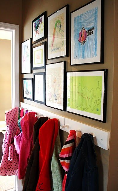 Framed artwork displayed in a central part of the home is a great way to show off your child's latest masterpiece!
