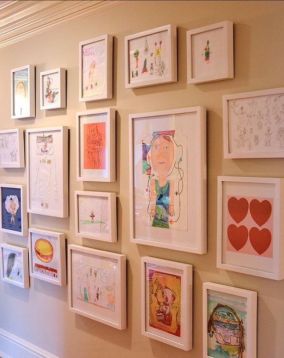 A gallery wall to display artwork