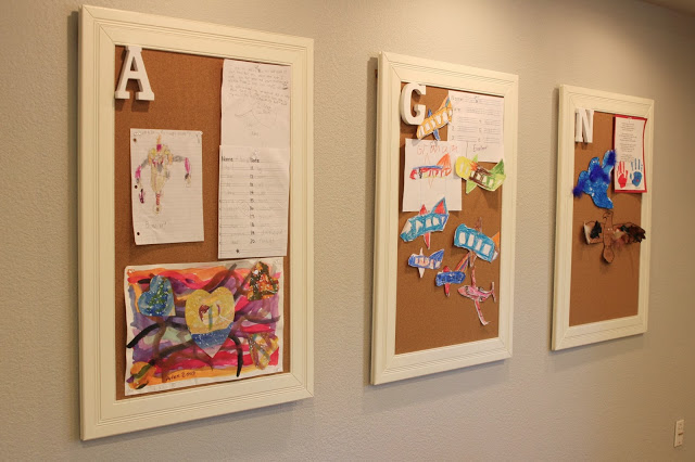 Individualised frames for each child to pin up their art pieces