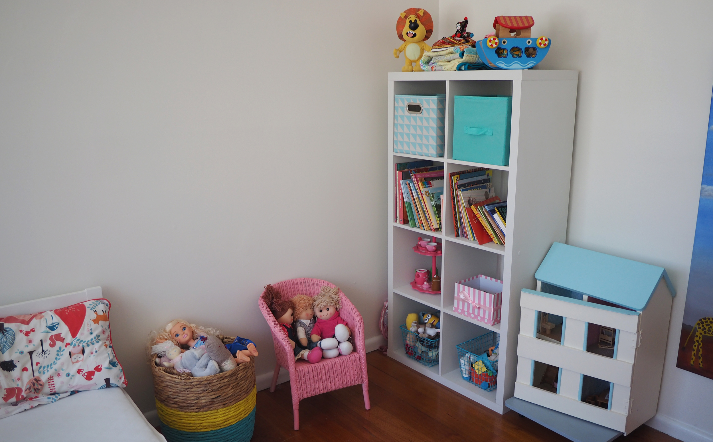 Trying out lots of different furniture arrangements and storage options is the best way to reach the perfect set-up - if at first you don't succeed, try try again!