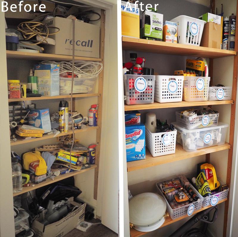 Storage cupboard makeover
