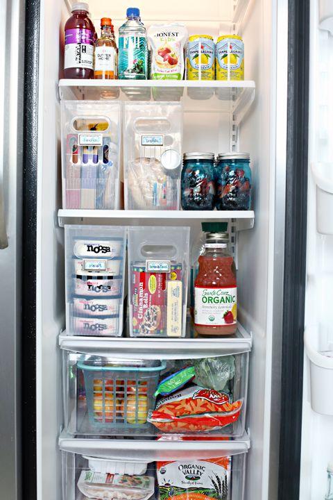 Use sturdy plastic magazine holders or multi-purpose bins