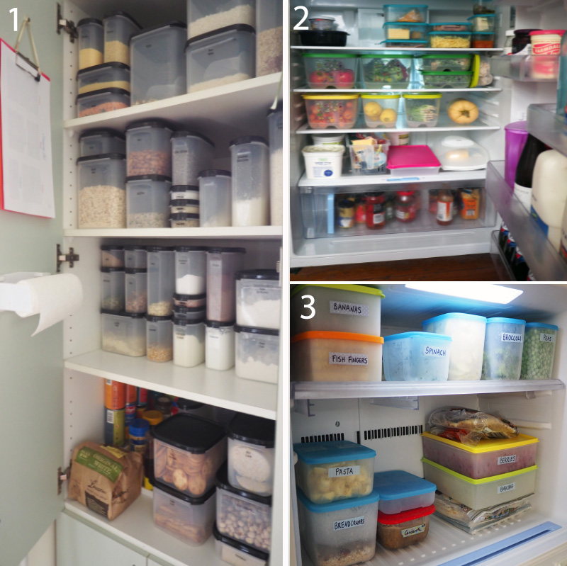 Air-tight containers, be it in the pantry, fridge or freezer, really ensure the food stays fresher for longer, as well as making everything neat, uniform and organised so it's always easy to find what you're after