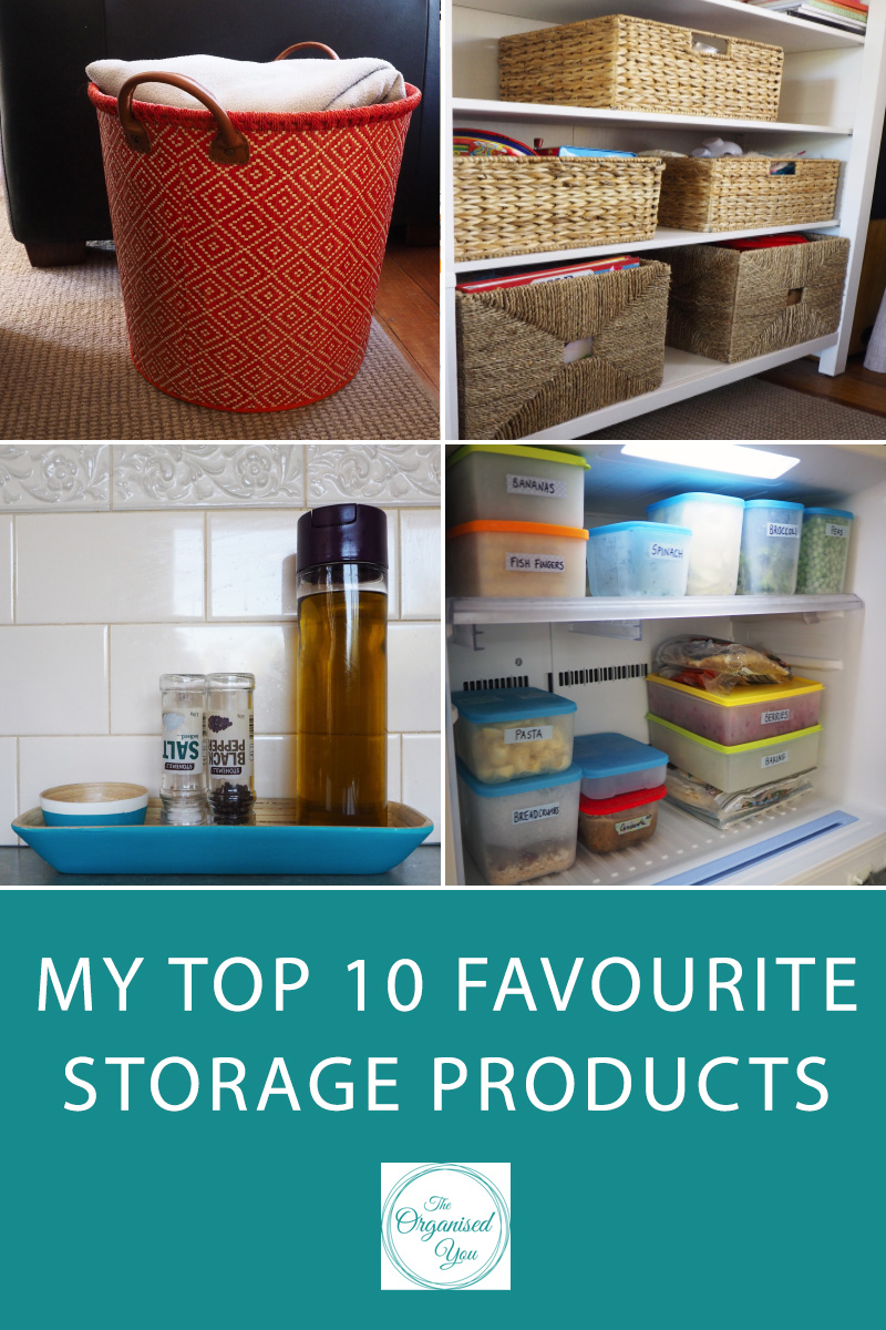 My top 10 favourite storage products - The right storage products can make a massive difference to the organisation of your home. Finding the right piece can be a total game-changer in terms of how the space works, how things are used and put away, and how a system is maintained. Click through to find out my top 10 favourite storage products, or pin for later!