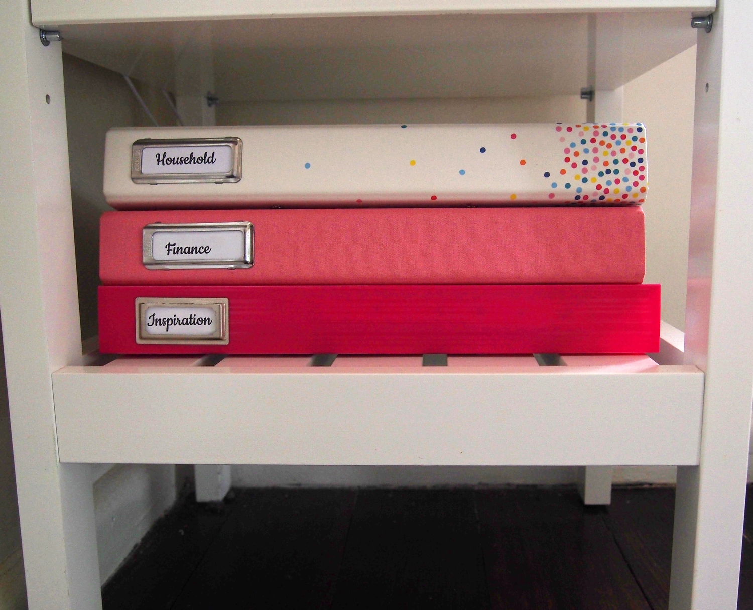 Household binders in a family command centre