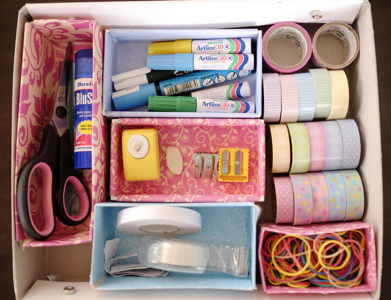 Organising stationery supplies