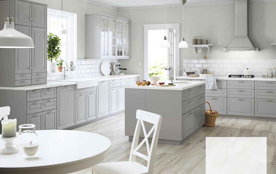 Ikea Bodbyn kitchen in grey