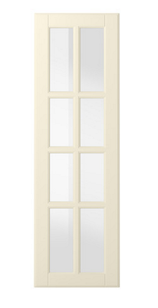 Ikea Bodbyn glass cabinets
