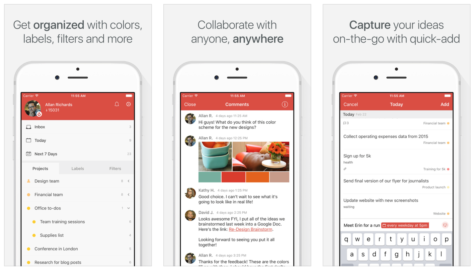 Todoist - an iphone app for helping you stay organised