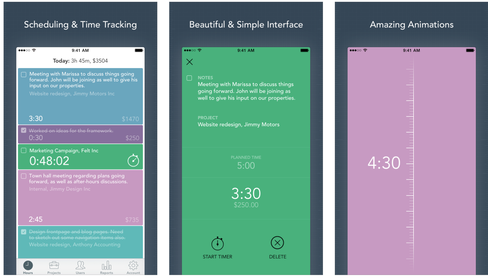 Timely - a time-tracking phone app to increase productivity