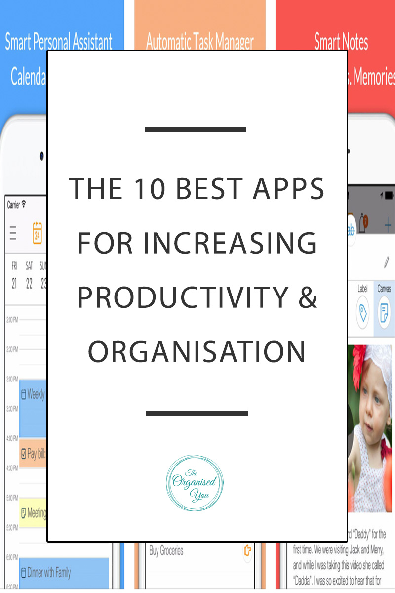 The 10 best apps for productivity & organisation - I'm sharing 10 of the best apps (all free and available on the iTunes store) that are designed to help you be more productive and get more organised. Choosing an app that will work best for you really comes down to experimenting with what works best for you and your particular needs and situation. But you never know, one of these could be a total game changer in terms of how you approach your daily tasks!Let's take an app tour, shall we?