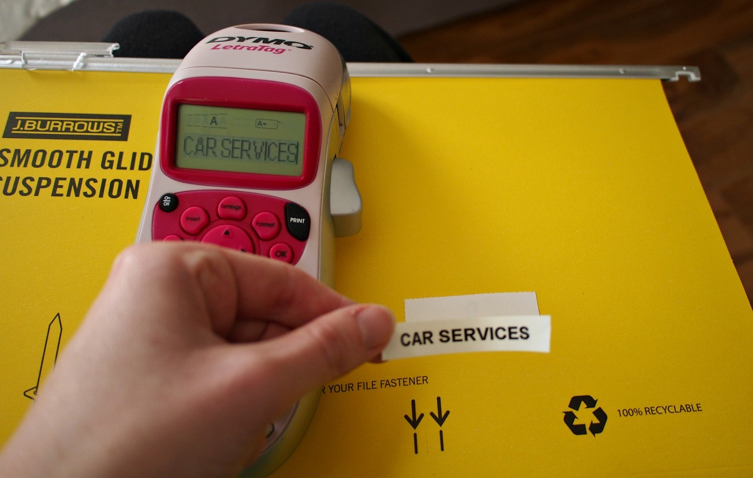 Use a hand-held labeller to create easy labels The Organised You