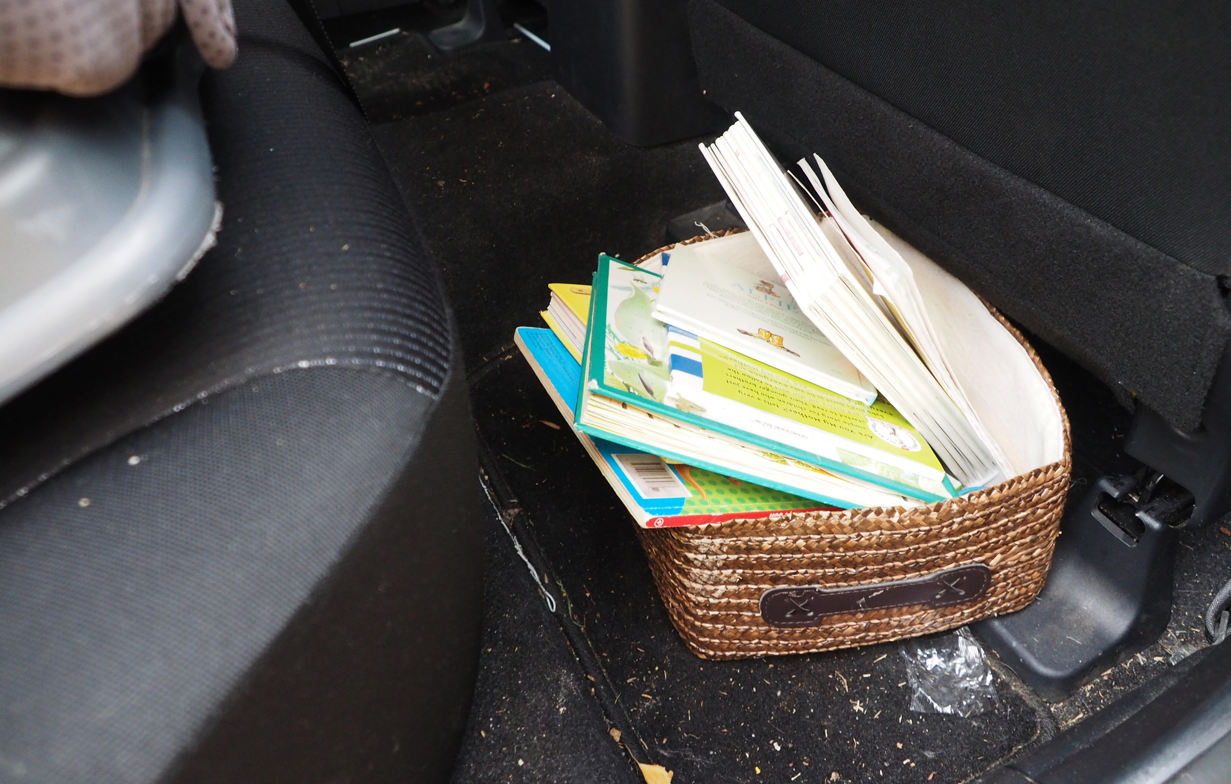 Box of books for the car
