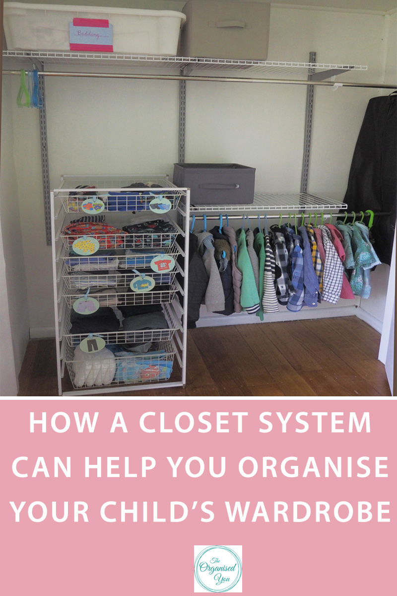 How a closet system can help you organise your child's wardrobe - setting up a great closet system that suits your child's needs and abilities can help them gain greater independence, and also keep things a whole lot more organised. Click through to read how we set up our 5 year old's wardrobe using a great closet system