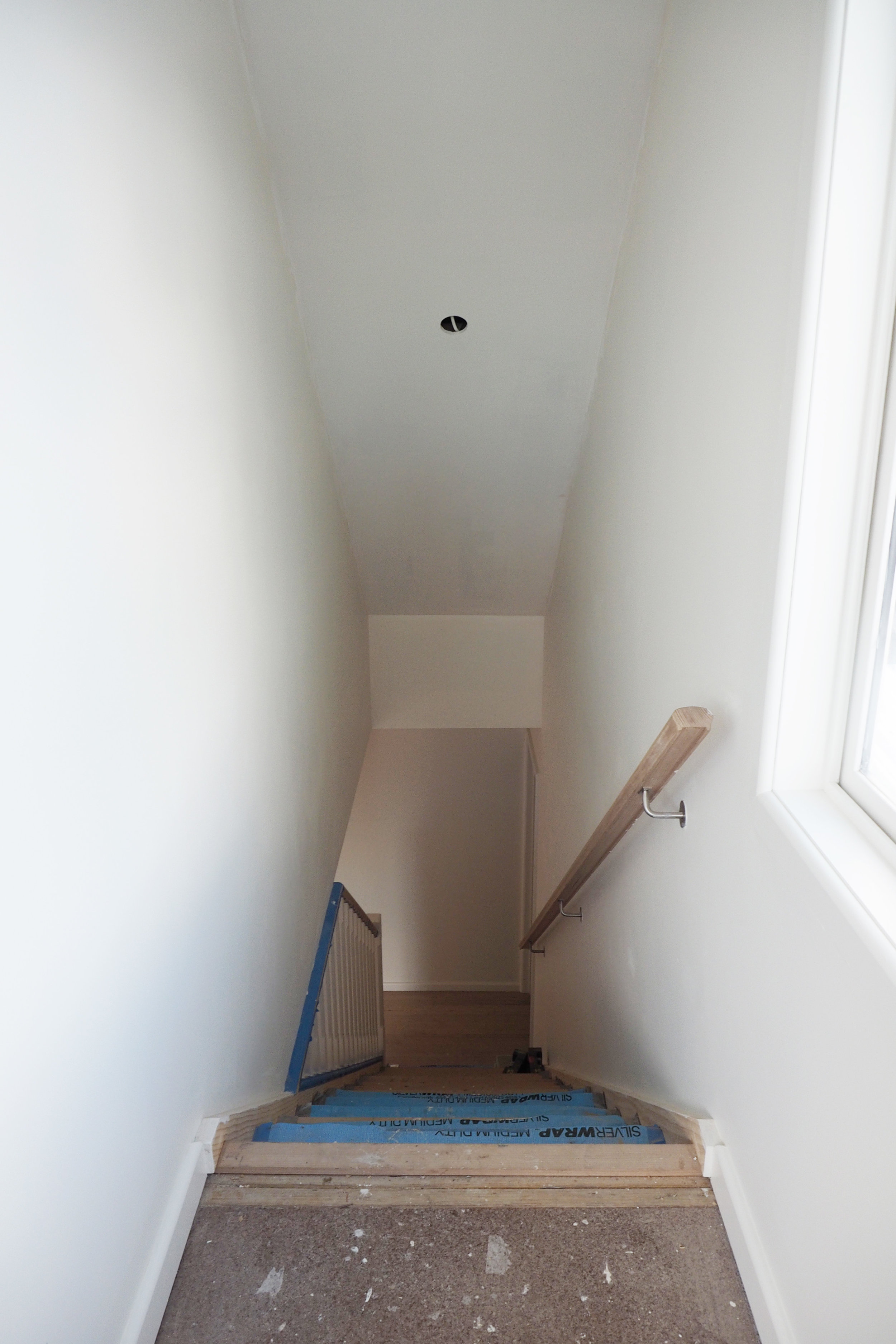 Stairwell in our newly renovated home - The Organised You