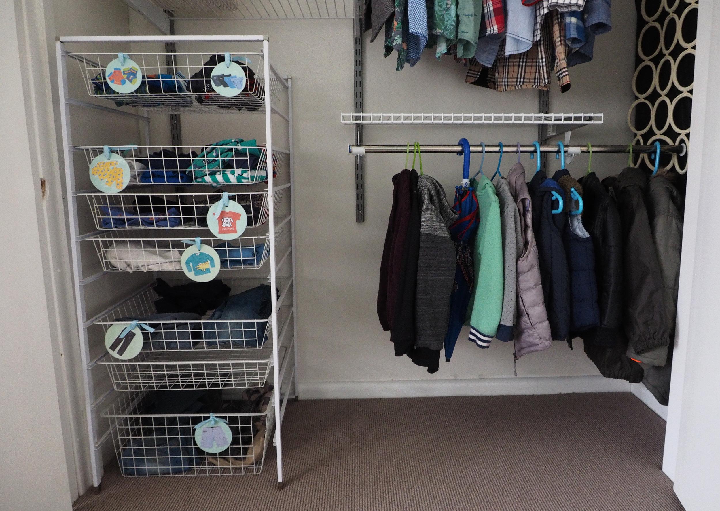 Kids wardrobe storage ideas - The Organised You