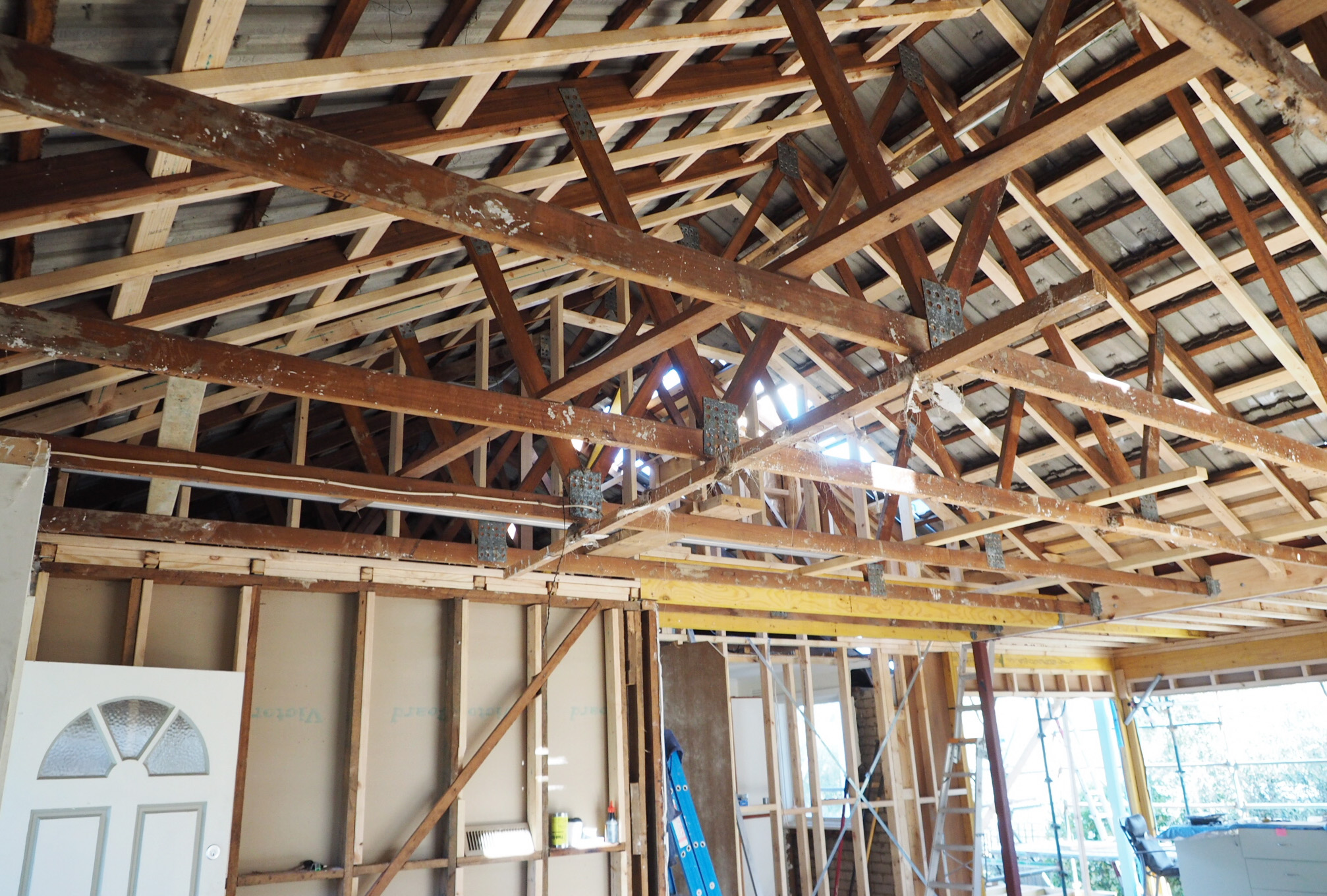 Exposing the beams in the living room - The Organised You