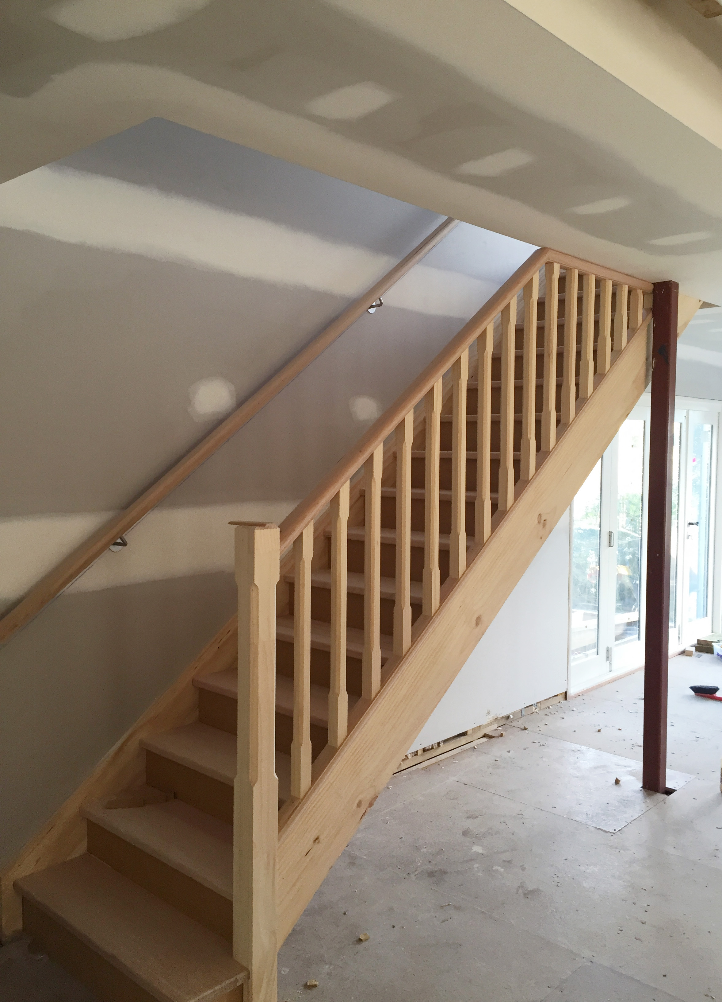 New stairwell in home renovation - The Organised You