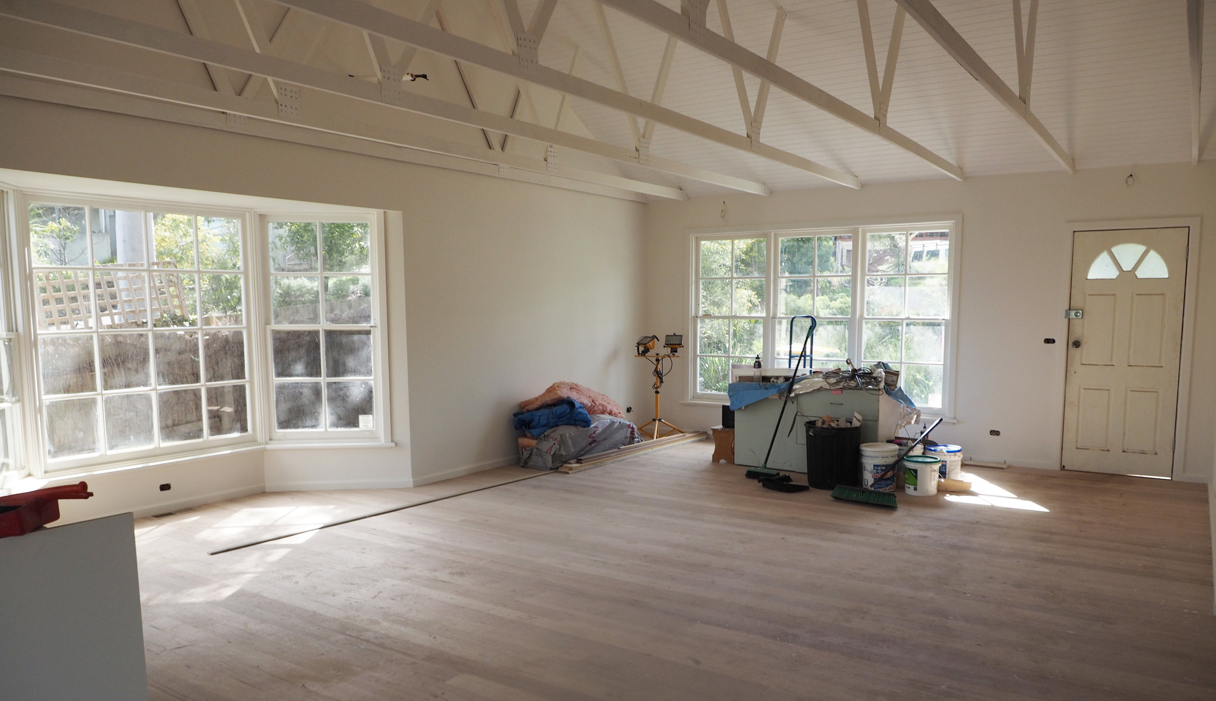 New floorboards in newly renovated home - The Organised You.