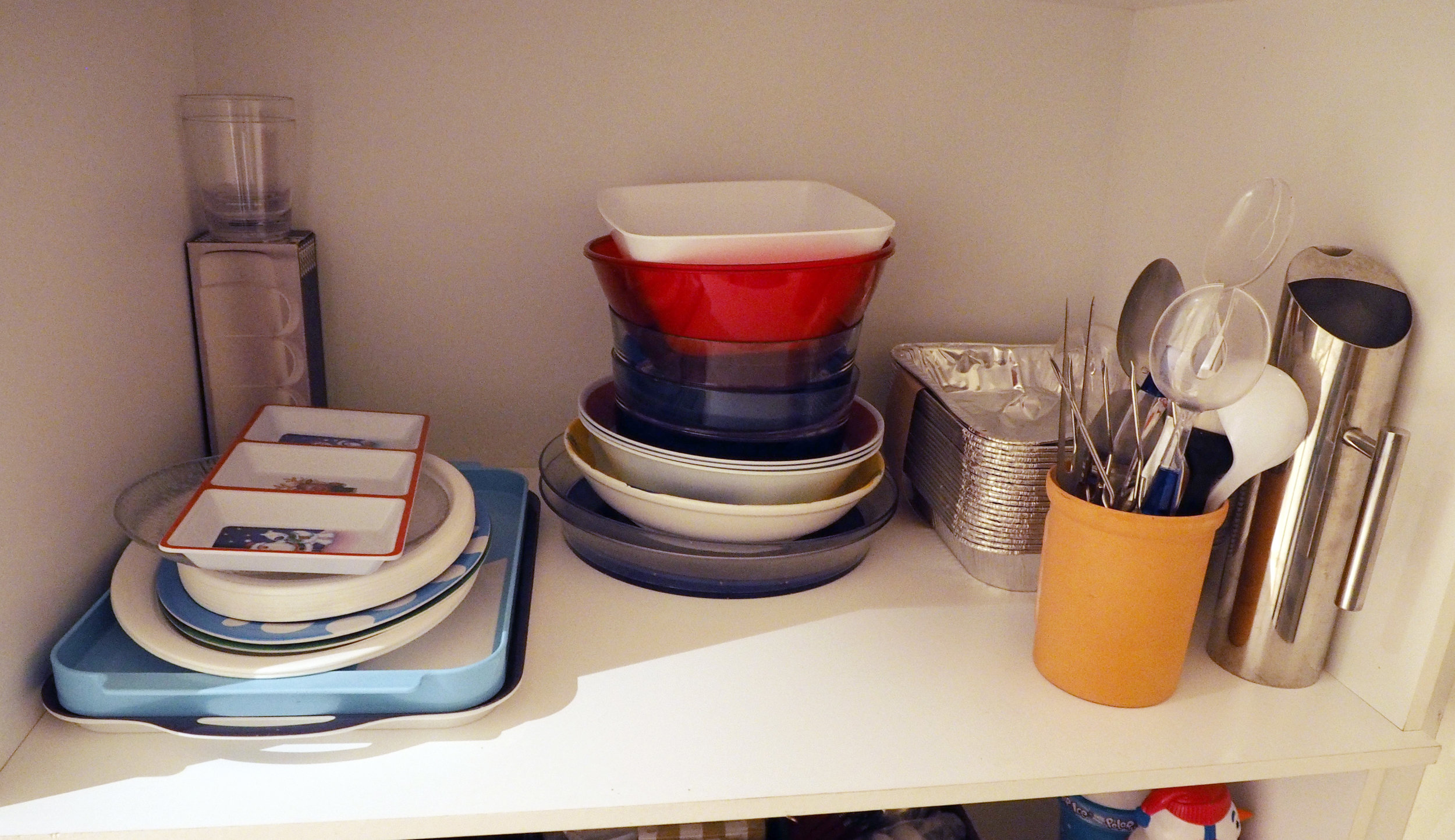 How to organise a pantry - group like categories together on shelves -The Organised You