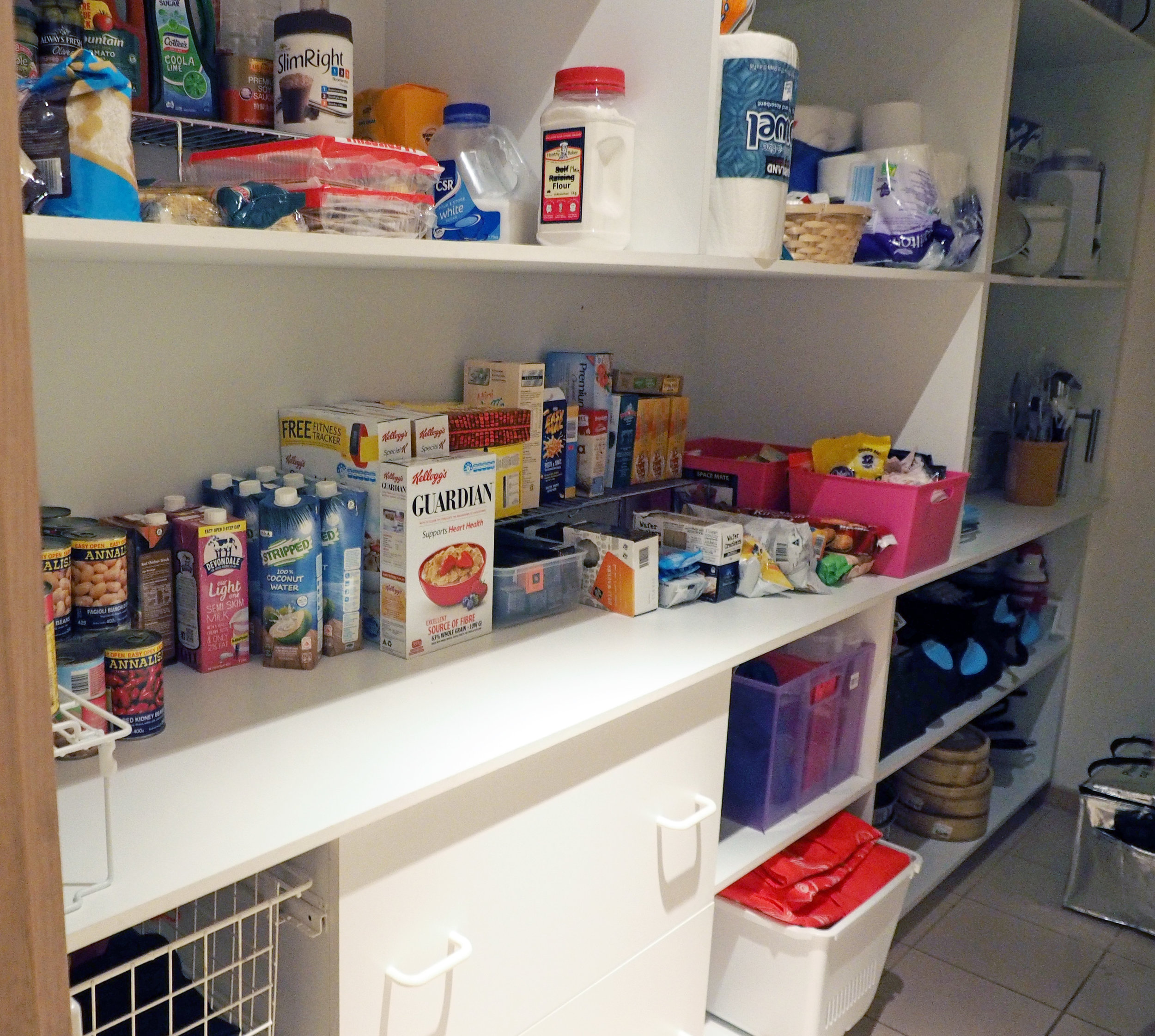 Pantry organisation - group like categories together to make everything easy to find in your pantry {The Organised You}