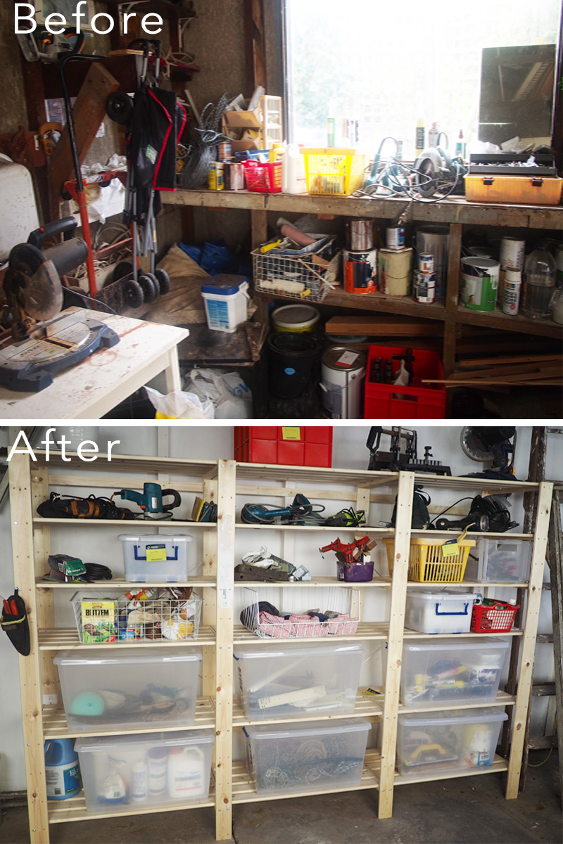 Garage organisation makeover {The Organised You}