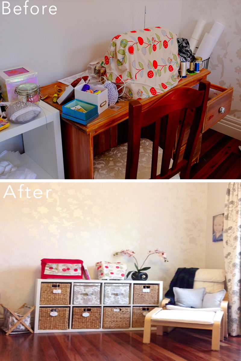 Sewing room organisation makeover {The Organised You}