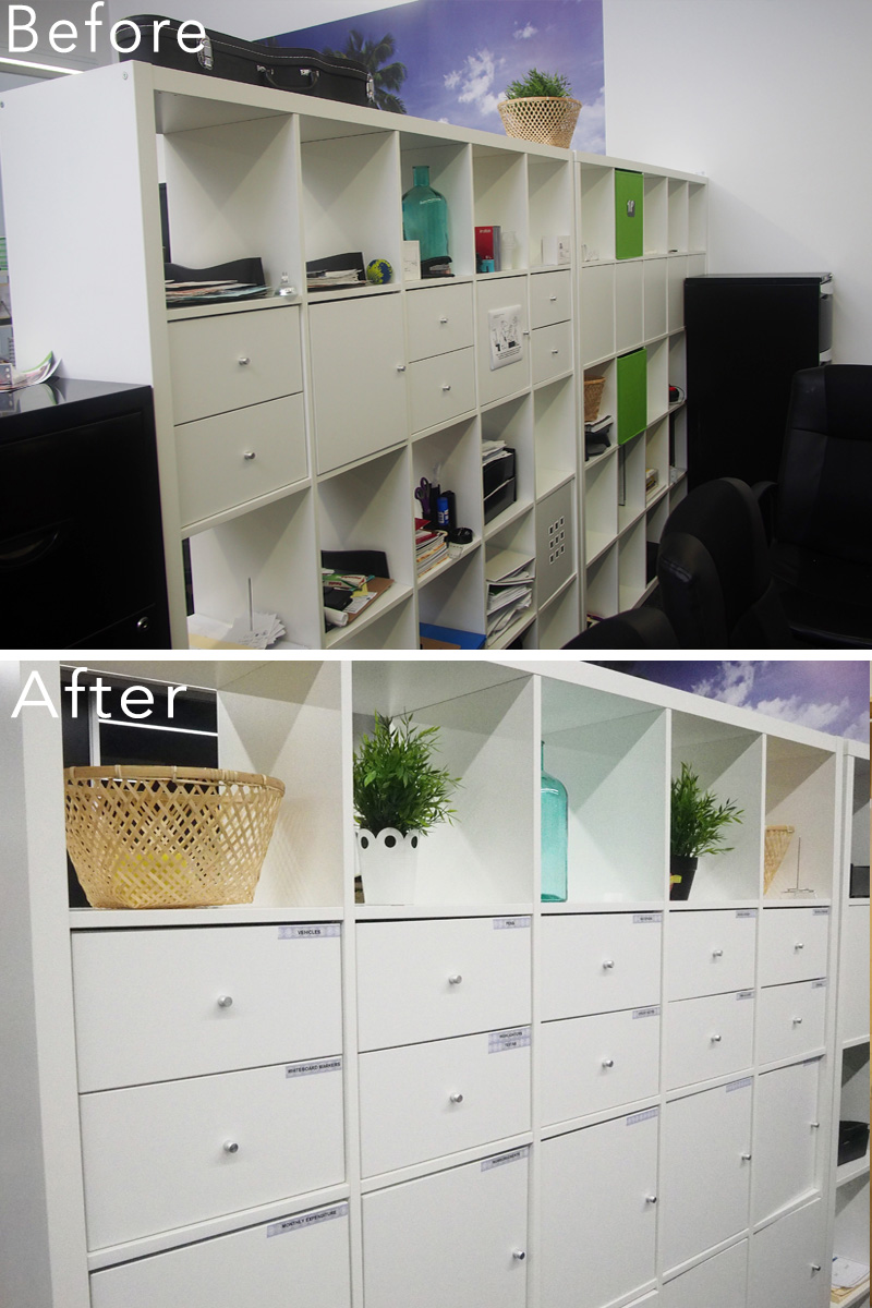 Work place office organisation makeover {The Organised You}