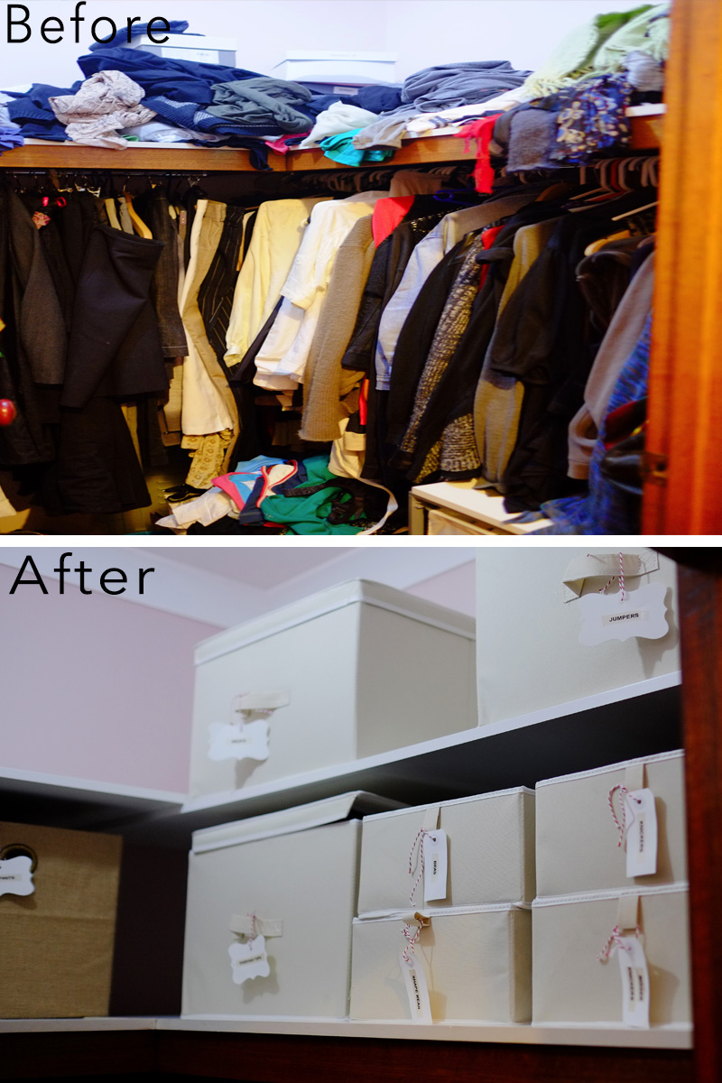 Wardrobe organisation makeover {The Organised You}