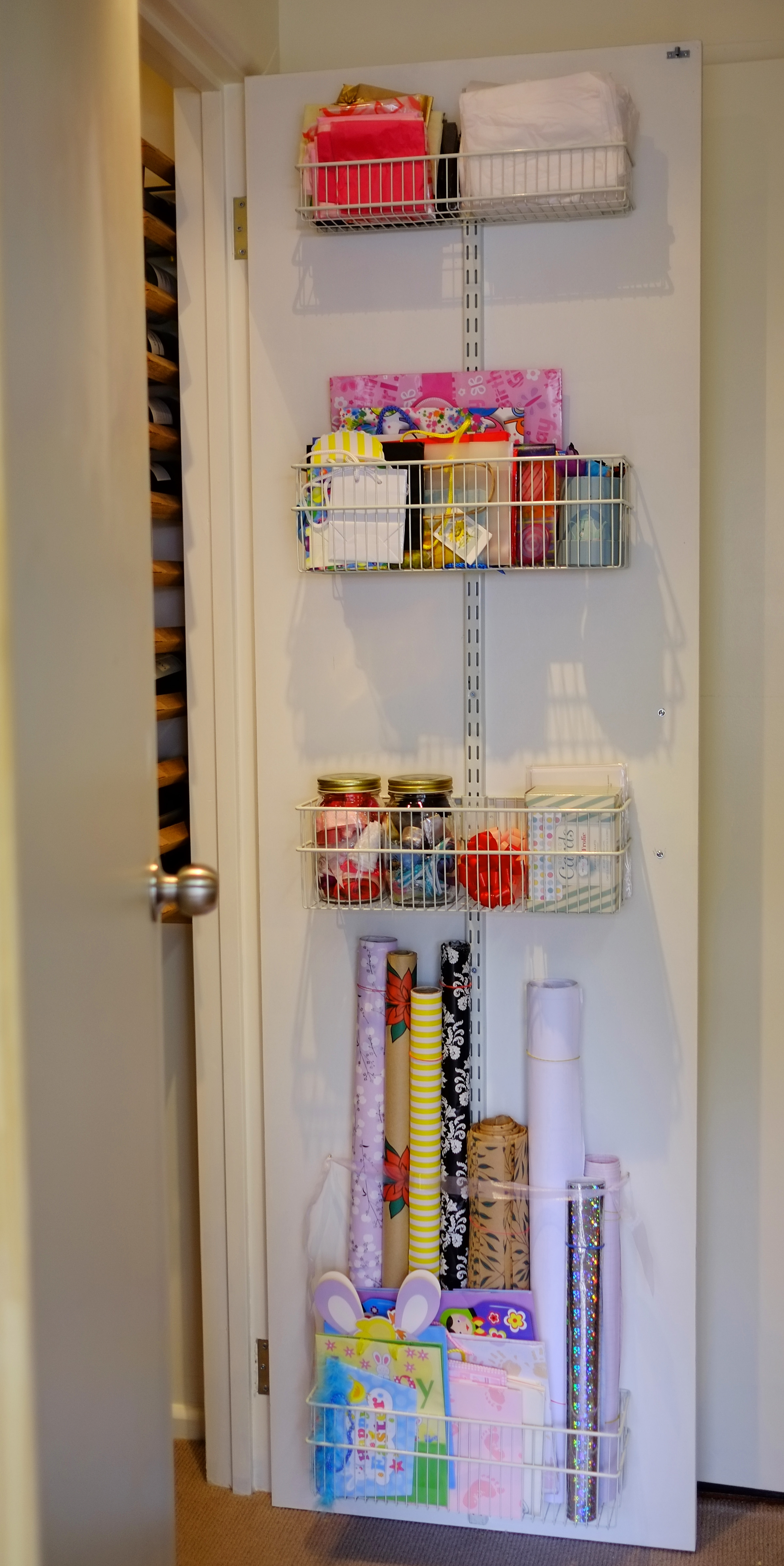 Organised gift wrapping station - The Organised You