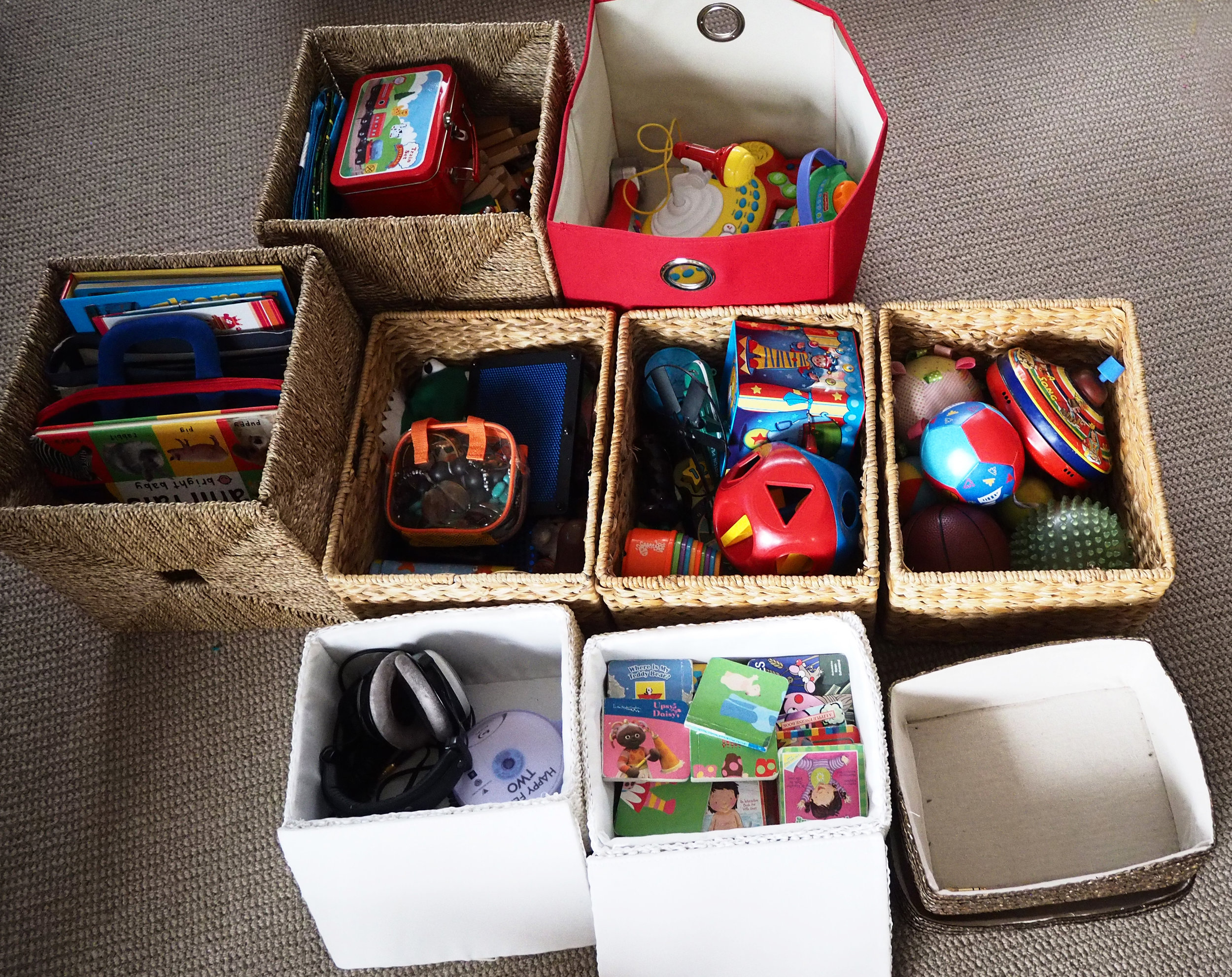 Declutter the kids' toys before Christmas to prepare for the influx of new toys