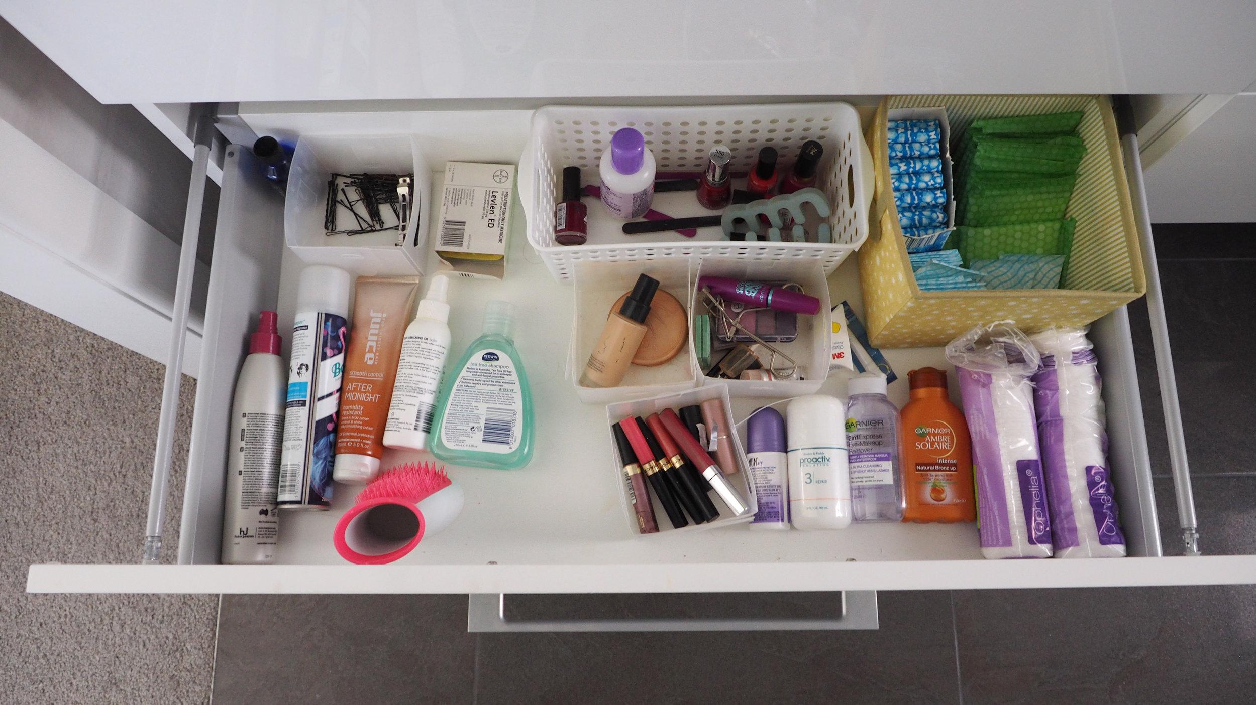Organised bathroom vanity - The Organised You