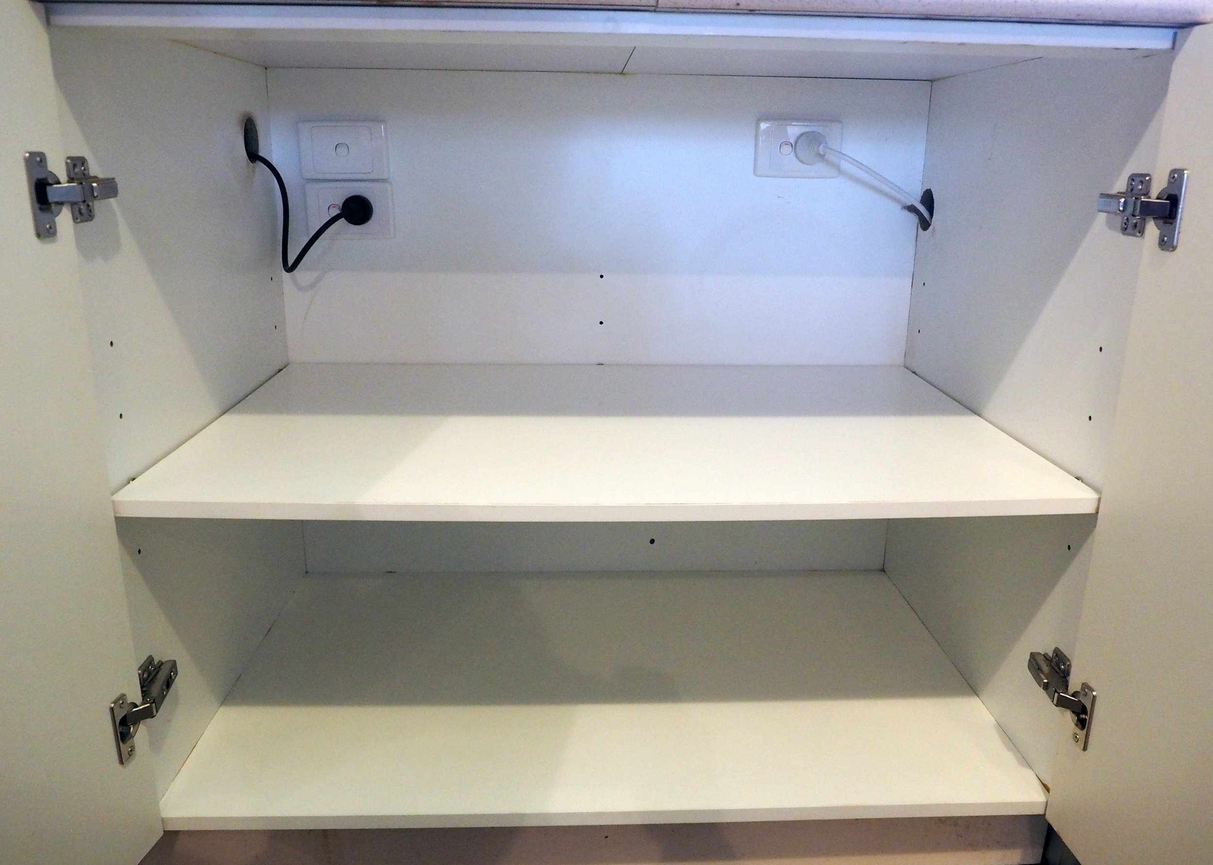 Clear cabinets give you a blank slate to work with