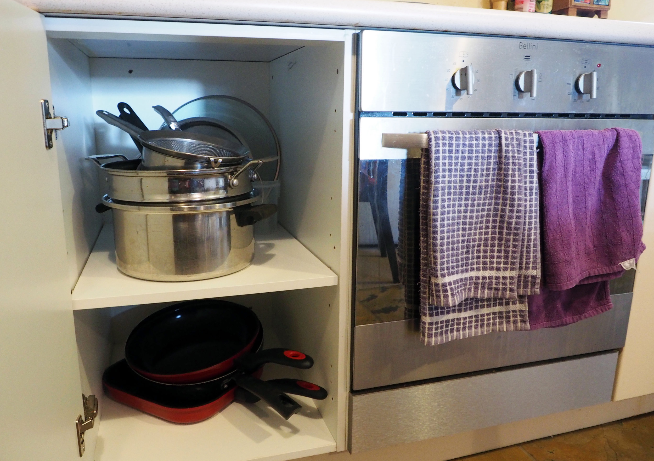Setting up zones in your kitchen will make cooking more efficient {The Organised You}
