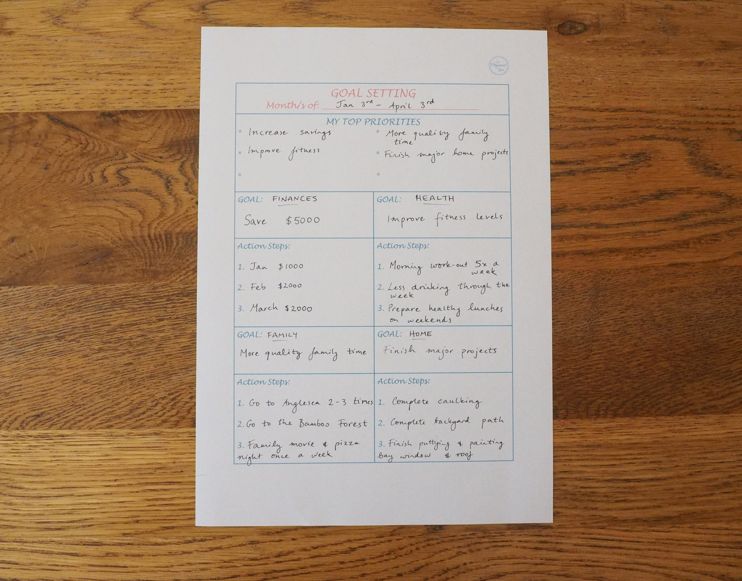 Goal setting is a great way to accomplish all you want to achieve! Find this and more effective printables in The Organised You Productivity Pack