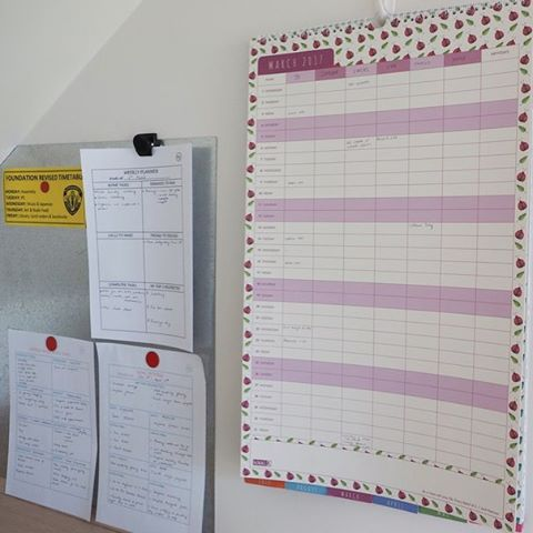 A family command centre is a central drop spot for important information and paperwork {The Organised You}