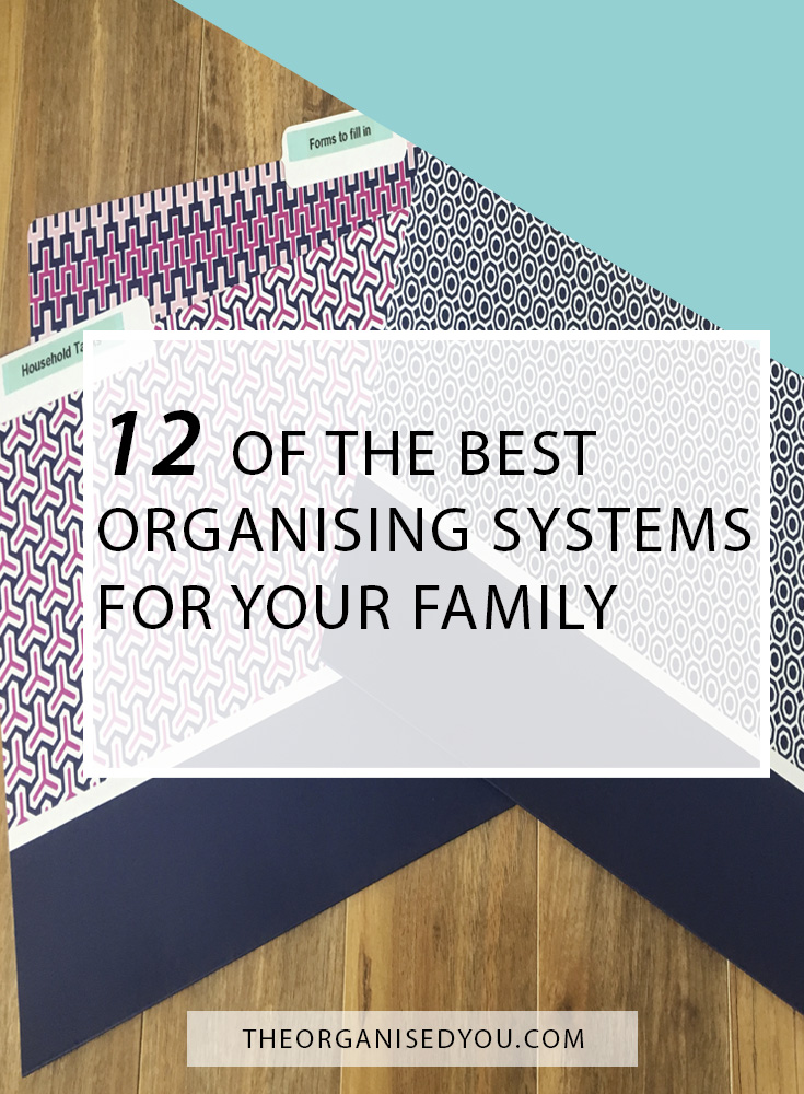 12 of the Best Organising Systems For Your Family - click through to learn about the best organising systems for your family, that will help you be as productive and efficient as possible, and consistent with your everyday organisation