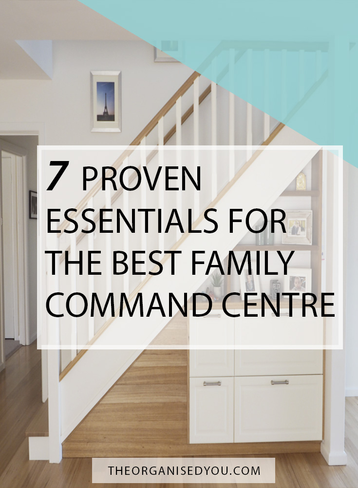 7 Proven Essentials for the Best Family Command Centre - if you're wanting to set up a family command centre in your home, then you need to have the essential items that will create the most functional, organised and hard-working space! Click through to find out what they are, and get your FREE detailed checklist to help you plan out your new command centre