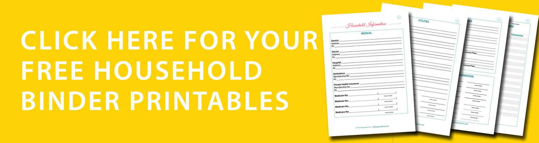 FREE household binder printables {The Organised You}