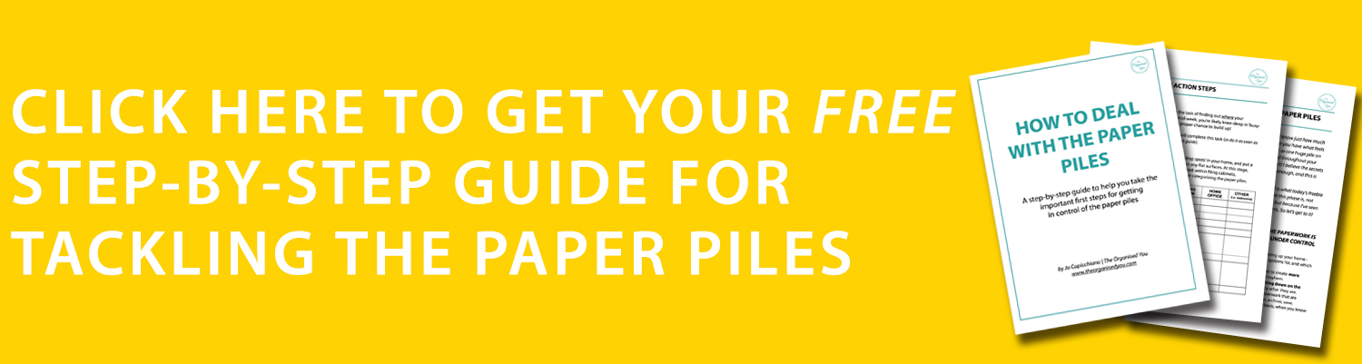 How to tackle the paper piles {The Organised You}