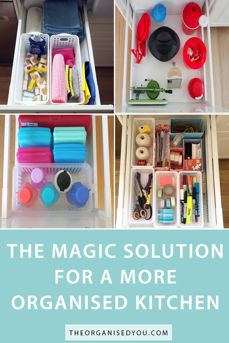 The Magic Solution For a More Organised Kitchen - if you're struggling to find the item you need quickly and easily when you're in the kitchen, then click through to learn the magic solution to a more organised kitchen. This humble storage product is a must to save yourself time and stress in the kitchen!