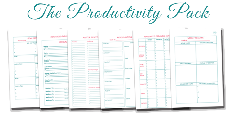The Productivity Pack -stay on top of your to-do's, set goals, plan your time and create routines to create more calm and order in your life