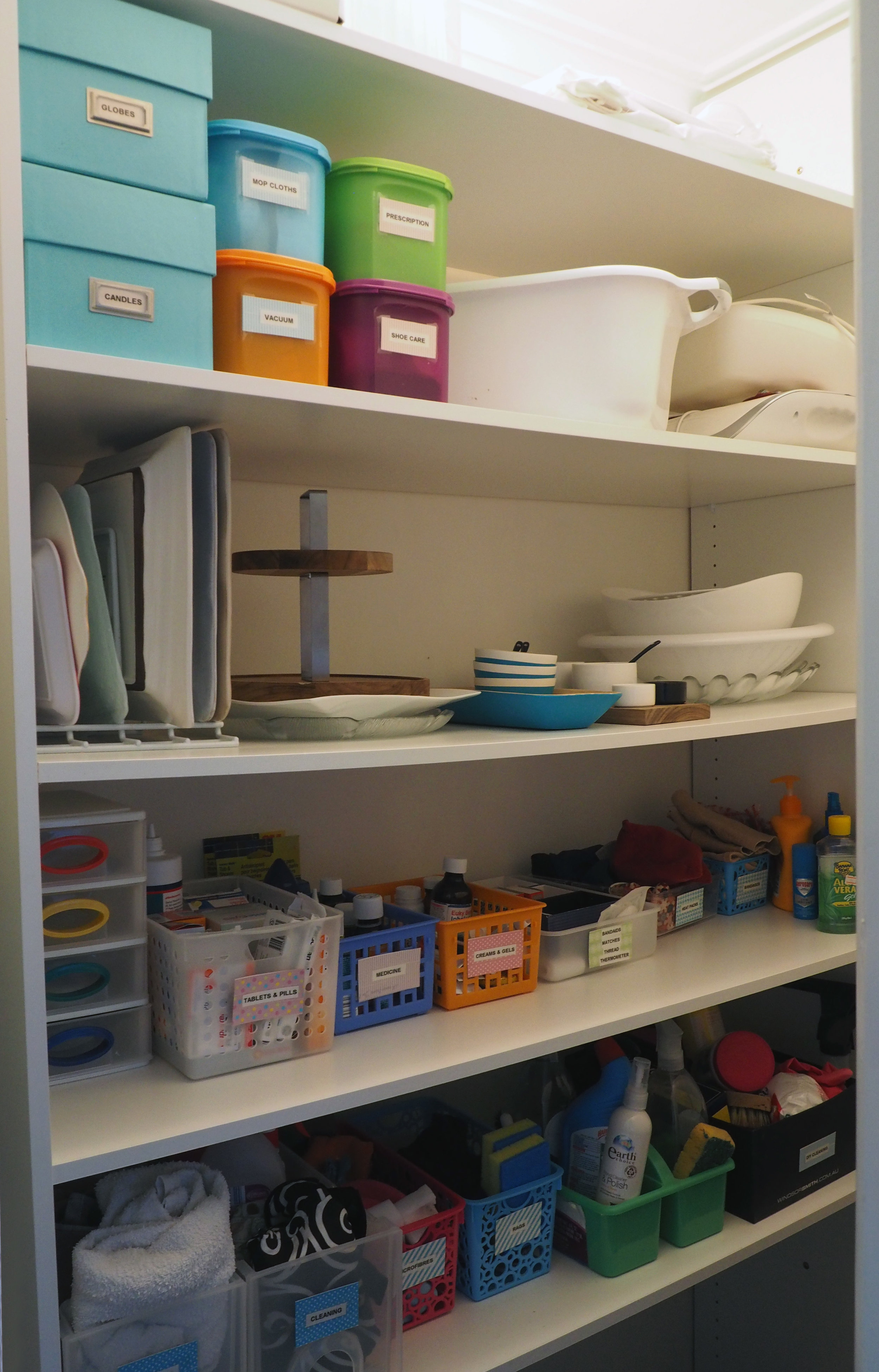 Organised laundry storage cupboard {The Organised You}