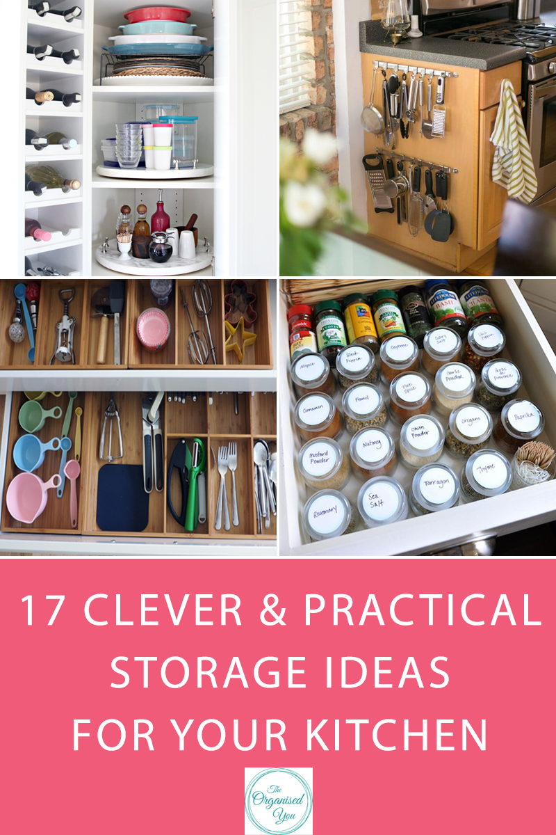 17 Clever & Practical Storage Ideas For Your Kitchen - click through to learn some practical and actionable tips for creating a more organised kitchen and more storage space