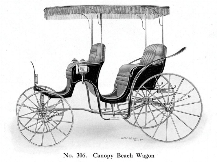 A similar Canopy Beach Wagon featured in the Bird and Schofield catalog about 1909.