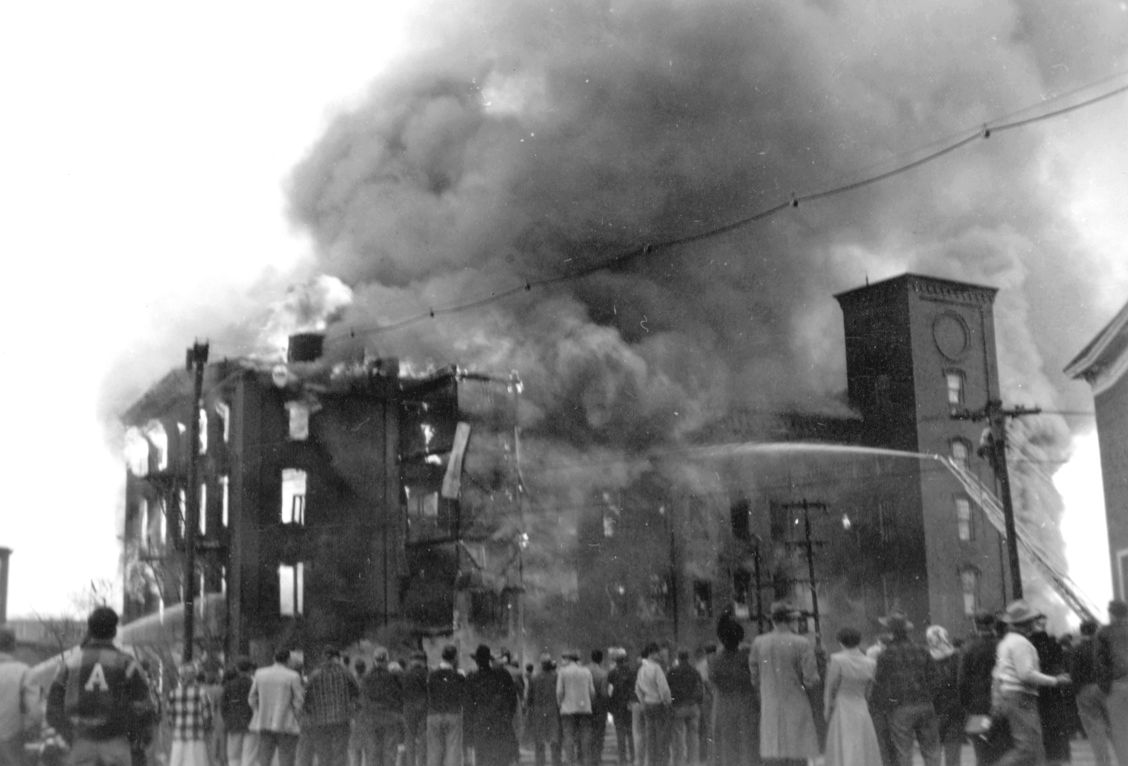 November 11, 1950 image of the Mill 8 fire. (Private Collection)