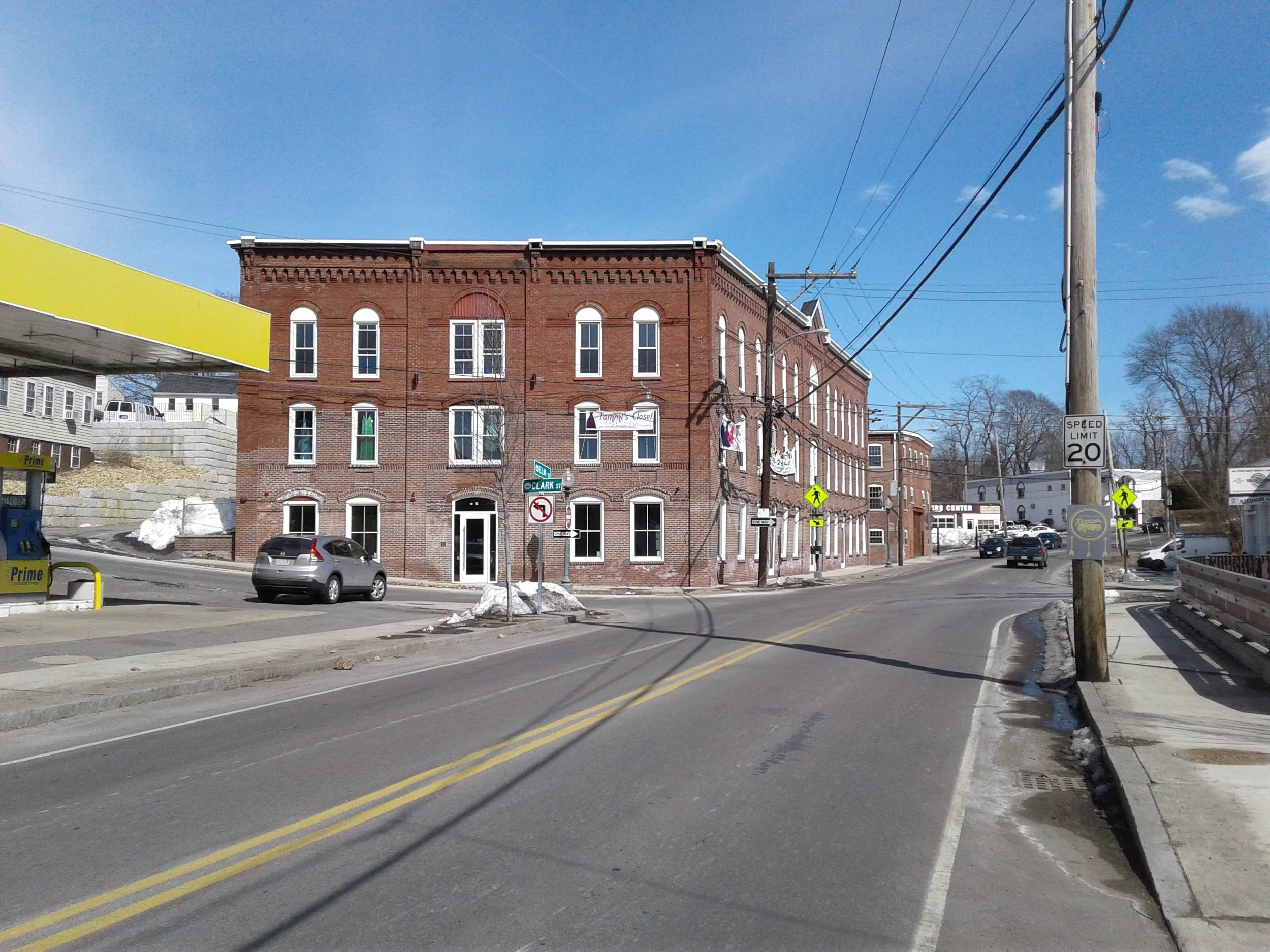 Figure 1: Site of Clark Tannery, today's 77 and 79 Elm Street.
