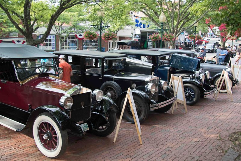 Display of Amesbury-bodied cars from the 2018 car show.