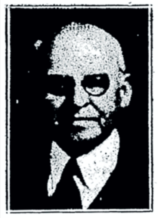 Poor quality portrait of John J. Allen from a microfilm copy of his 1947 retirement announcement in  The Amesbury Daily News .