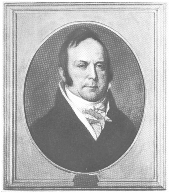 """Jacob Perkins at age 52. From The Franklin Institute and reproduced in """"Jacob Perkins, His Inventions, His Times, & His Contemporaries."""""""